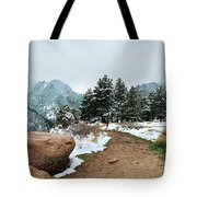 A Winter's Day In The Flatirons Tote Bag