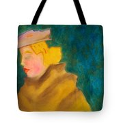 A Woman In A Fur Tote Bag
