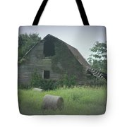 Abandoned Barn And Hay Roll 2018c Tote Bag