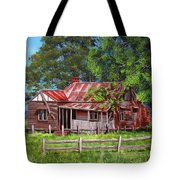 Abandoned Old Farm House Tote Bag