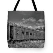 Abandoned Railroad Car In Rural New Brunswick Tote Bag