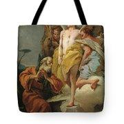 Abraham Y Los Tres Angeles  X   Cm  Tote Bag