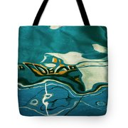 Abstract Boat Reflection V Color Tote Bag
