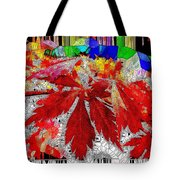 Abstract Fall Acer Stained Glass  Tote Bag