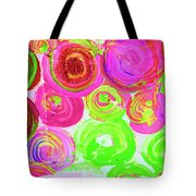 Abstract Flower Crowd Tote Bag