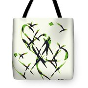 Abstract On Acrylic Tote Bag
