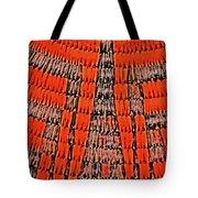Abstract Oranges Blacks Browns Yellows Rows Columns Angles 3152019 5476 Tote Bag