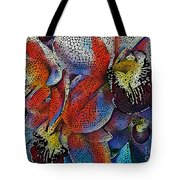 Abstract Orchids.  Tote Bag