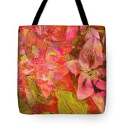 Abstract Pink Lilies Tote Bag