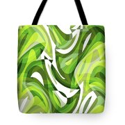 Abstract Waves Painting 0010081 Tote Bag