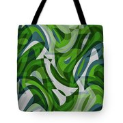 Abstract Waves Painting 0010087 Tote Bag