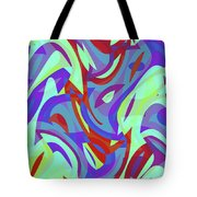 Abstract Waves Painting 0010102 Tote Bag
