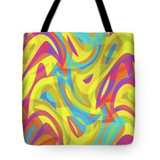 Abstract Waves Painting 0010109 Tote Bag