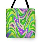 Abstract Waves Painting 0010113 Tote Bag