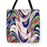 Abstract Waves Painting 0010118 Tote Bag