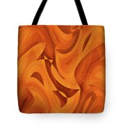 Abstract Waves Painting 001451 Tote Bag