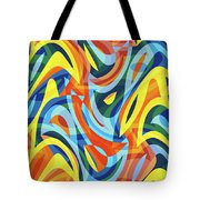 Abstract Waves Painting 007176 Tote Bag