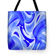 Abstract Waves Painting 007183 Tote Bag