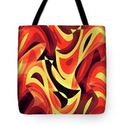 Abstract Waves Painting 007185 Tote Bag