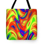 Abstract Waves Painting 007192 Tote Bag