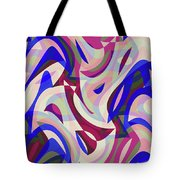 Abstract Waves Painting 007199 Tote Bag