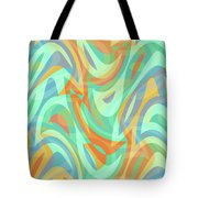 Abstract Waves Painting 007202 Tote Bag