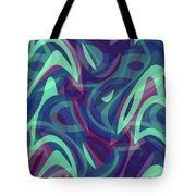 Abstract Waves Painting 007219 Tote Bag