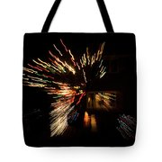 Abstracted Christmas - Luminous Fairy Lights Patterns Tote Bag