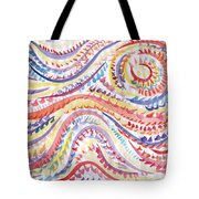 Abstraction In Winter Colors Tote Bag