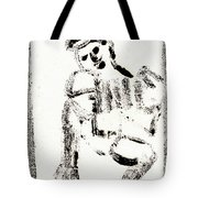 Accordion After Mikhail Larionov Black Ink Painting 1 Tote Bag