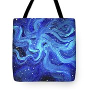 Acrylic Galaxy Painting Tote Bag