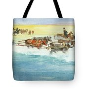 Action From A Ten Thousand Mile Motor Race Tote Bag