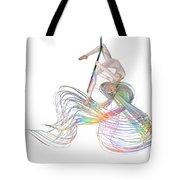 Aerial Hoop Dancing Ribbons For Her Hair Png Tote Bag