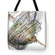 Aerial Hoop Dancing Whirlwind Of Hair Png Tote Bag