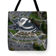 Aerial Of Creative Art Center And Parking Lot Tote Bag by Dan Friend