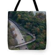 Aerial Of Prt And Prt Cars Tote Bag by Dan Friend