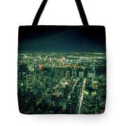 Aerial View Of Manhattan Skyline  Tote Bag