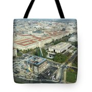 Aerial View Of The Smithsonian National Museum Of African Americ Tote Bag