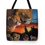 African Cats Tote Bag
