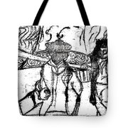 After Billy Childish Black Oil Drawing B2-5 Tote Bag