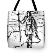 After Billy Childish Black Oil Drawing B2-7 Tote Bag