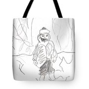 After Billy Childish Girl Pencil Drawing B2-16 Tote Bag