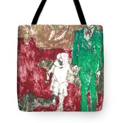 After Billy Childish Painting Otd 43 Tote Bag