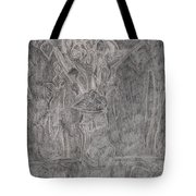 After Billy Childish Pencil Drawing 1 Tote Bag