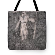After Billy Childish Pencil Drawing 14 Tote Bag