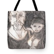 After Billy Childish Pencil Drawing 19 Tote Bag