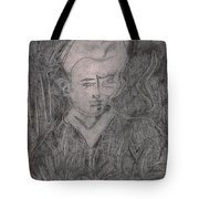 After Billy Childish Pencil Drawing 2 Tote Bag
