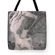 After Billy Childish Pencil Drawing 20 Tote Bag