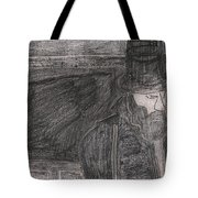 After Billy Childish Pencil Drawing 32 Tote Bag