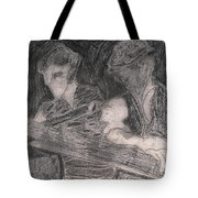 After Billy Childish Pencil Drawing 33 Tote Bag